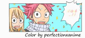 Fairy Tail Ep. 268 color Natsu and Lucy by Perfectionxanime