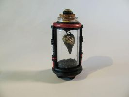 Black heart miniature bottle by twistedcreaturesart