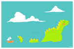 The Loch Ness Monster by liljeska