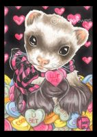 Valentine's Day Candy Ferret by natamon