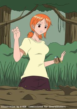 Nami in Quicksand 02 by A-020