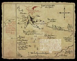thors map - The Hobbit movie by EyeofSauron