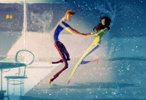 -Have you ever run barefoot in fresh snow? by PascalCampion
