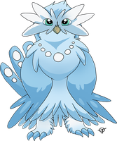 Fakemon - Snowyel by Thunddi