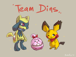 Team Dins by BakaPup