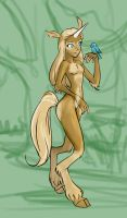 Satyr-like chick by bellsandy