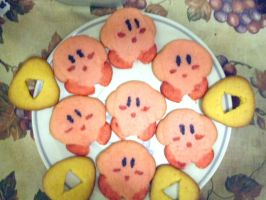 Kirby and Triforce Cookies by AzureShinobi