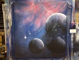 PLANETS: Scenic Art spray project by cattybonbon