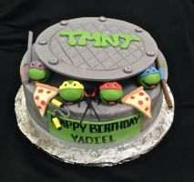 TMNT cake by BrightlyWound455