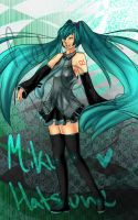 Miku Hatsune by INU-KAG-LOVE
