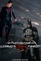 Batman/Superman: World's Finest Movie Poster by PaulRom