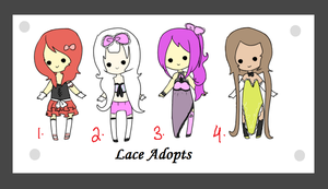 44. Lace Adopts  closed by coolkatadopts