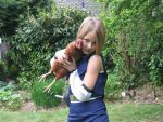 Me as Ino with a chicken by faerie191