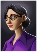 TF2: Miss Pauling by forte-girl7