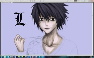 L - Death Note (WIP) by DragoRaven