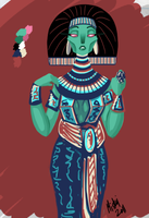 Egyptian Doodle by Miskui