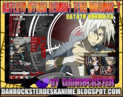 Hayato Gokudera Theme Windows 7 by Danrockster