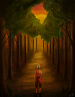 Aang In The Forest by Merina-Sky