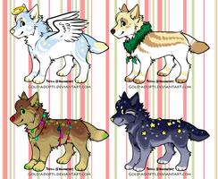 CLOSED | Christmas canine adopts B.1 by gold-adopts
