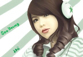 Soo Young SNSD Paint by deAtHwiSH90