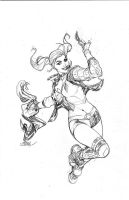 Harley Quinn 1 Cover Pencils by TerryDodson