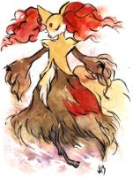 Delphox by Waprom