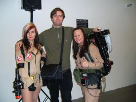 Me and female Ghostbusters by EgonEagle