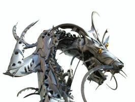 Chinese Dragon (detail) by HubcapCreatures