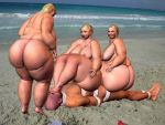 Facesitting - BBW - At the Beach 06 by teejott71