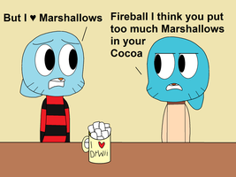 Fireball's love for Cocoa by DoctorWii