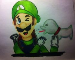 Luigi with polterpup by DrGengar