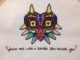 LoZ: Majora's Mask Cross Stitch by BritRo