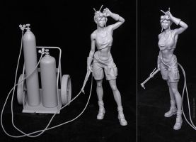 Welder Girl - 3D Print by JoseAlvesSilva