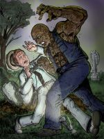 Kolchak vs. the Zombie by Gazbot