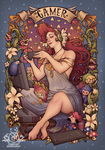 Gamer Girl Nouveau by Medusa-Dollmaker