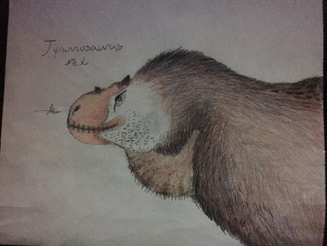 30 Days of Dinosaurs: T. rex reconstruction by CoelurosaurianArtist