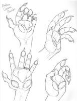 Anthro Canine Hands by DragonessDeanna