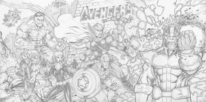 Avengers jim lee homage finished by c-crain