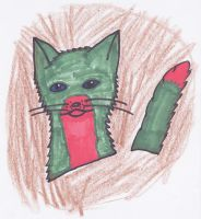Christmas Cat!!!  :D by blackstormwarrior