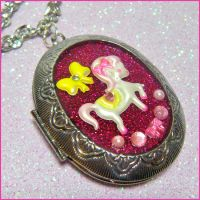 Little Pony Resin Locket by bapity88