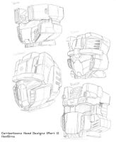 Combaticon Head Studies Part 1 by hansime