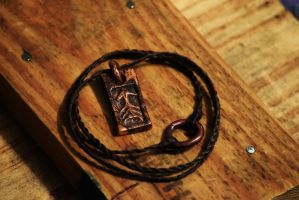 Hand carved and cast solid copper Pendant. by AshTheRebelFox