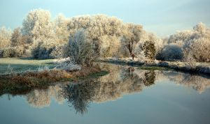 Frosty river by quiksilver1971
