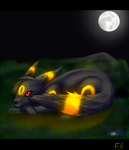 Umbreon at night by Forumsdackel