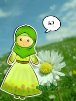 green Moslemah by alyanayla