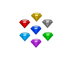 Chaos Emeralds -normal state- by Snicketbar