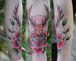 Deer Tattoo by Moviemetal3