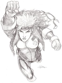 ROGUE of the X-Men Jim Lee 90s version by Dingodile24
