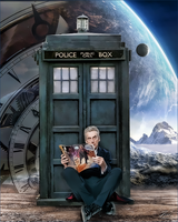 Peter Capaldi Dr Who Reading by PZNS