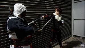 .: Assassin vs the Ultimate Lifeform :. by Angel-Hearted-Being